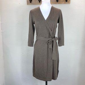 NWOT Banana Republic long sleeve faux wrap dress